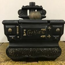 McCoy USA Cookie Jar - Black Cook Stove Wood Burning Vintage Collectible!!❤️