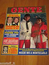 GENTE=1984/10=STEPHANIE DE MONACO=LORIS STECCA=VALPIANA=CASTIGLIONE STIVIERE=