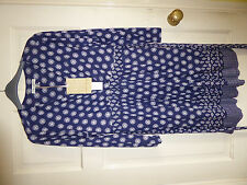 Laura Ashley navy patterned dress size 14 BNWT