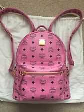 MCM Stark Backpack, Small, Pink