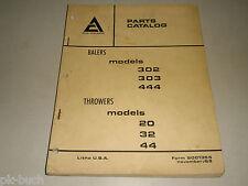 Ersatzteilkatalog Spare Parts Catalog Allis Chalmers AC Baler Ballenpresse 11/69
