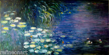 Claude Monet Water Lilies Morning Handmade Oil Painting repro