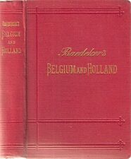 Baedeker's Belgium and Holland including the GRand-Duchy of Luxembourg 1910 hdbk