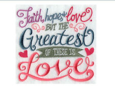 Verses and Saying Designs 5x7 Full Color Machine Embroidery Quilt Block cotton
