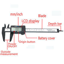 Digital Electronic Carbon Fiber Vernier Caliper Gauge Micrometer Measuring Tool