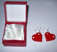 LEGO VALENTINE DAY WEDDING GIFT RED HEART-FRIENDSHIP-LOVE- SET OF EARRINGS #2