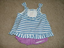 Gymboree Hippos and & Bows Baby Girls Outfit Set Size 3-6 months Clothes NWT NEW