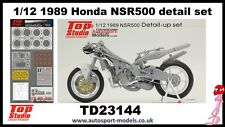 1/12 1989 Honda NSR500 Detail up set  by Top Studio TD23144 to suit Hasegawa