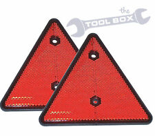 2 x Reflective Triangles E Approved reflectors for Trailers