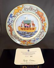 Royal Crown Derby NOAH'S ARK PLATE Limited Ed 299/2000- 1st Quality Cert & Box