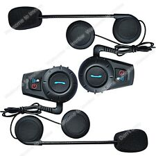 2x BT 500M Intercomunicador Bluetooth Auriculares Interphone Interfono para Moto
