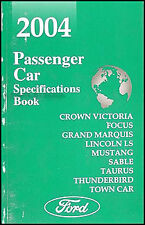 2004 Lincoln Mercury Service Specifications Book LS Town Car Sable Grand Marquis