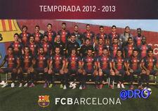 Fc Barcelona + el equipo 2012/2013 + FCB + tarjeta postal coleccionista + nuevo + licencia +