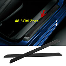 2pc 48.5CM Carbon Fiber Car Scuff Plate Door Sill Cover Protector Trim Universal
