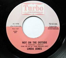 Linda Jones Soul 45 Not On The Outside on Turbo MINT