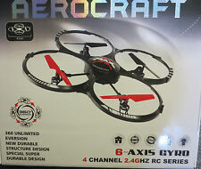RC Quadcopter runqia 77-03, 2.4GHz, 4-CH, 6-Axis giroscopio, lámparas LED drones.