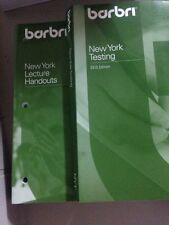 Barbri MBE Review New York Testing & New York Lecture Handouts 2010 Edition, Bar