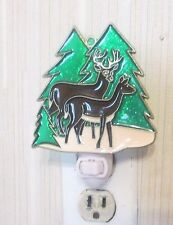 DEER WINTER SCENE NIGHTLIGHT (SUNCATCHER LIGHT)