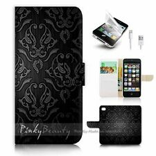 iPhone 5 5S Flip Wallet Case Cover! P1034 Damask Pattern