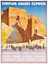 ART PRINT TRAVEL TOURISM SIMPLON ORIENT EXPRESS ALEPPO CASTLE FRANCE NOFL1261