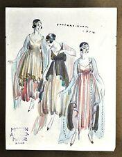 Annie Offterdinger Modezeichnung Fashion Illustration 1917 Moden Alfred-Marie