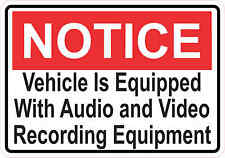 5x3.5 Notice Audio and Video Recording Sticker Sign Stickers Business Door Signs