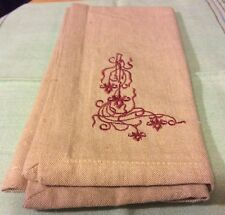 Aman Beige Embroidered Napkins (4)