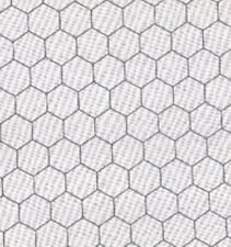 BY THE 1/2 YD~BLACK CHICKEN WIRE on white~MODA FABRIC~FARM~BARN~ROOSTER~8255-1
