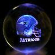 80mm 3D Laser Crystal Ball NFL New England Patriots + Free Light Base