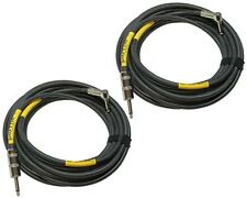 2 PACK 5 ft foot PLOYNK right angle to straight 1/4 stage monitor speaker cables