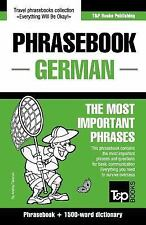 English-German Phrasebook and 1500-Word Dictionary by Andrey Taranov (2015,...