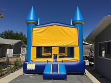 Bounce House 13' x 13' Commercial Inflatable Moonwalk Castle & 2 FREE Banners