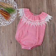Flower Girl Newborn Infant Baby Bodysuit Romper Jumpsuit Outfits Sunsuit Clothes