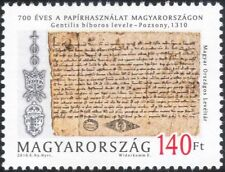 Hungary 2010 Paper Making/Printing/Writing/Books/Heritage/History 1v (n45223)