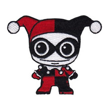"Harley Quinn Doll Iron On Patch 3"" x 1"" P-DC-0125 Free Shipping Licensed by C&D"