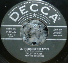 """* * GREAT PRICE JACKIE WILSON's 1st 45 """"ST THERESE OF THE ROSES"""" '56 BILLY WARD!"""