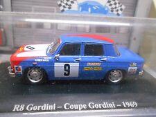 RENAULT 8 R8 Gordini Coupe 1969 #9 Racing Rallye Hachette Eligor 1:43