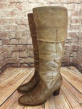 Ladies Cherokee Light Brown Leather Zip Fastening High Heel Long Boots UK 5 EU38