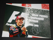 SEBASTIAN VETTEL SIGNED 8x10 PHOTO UNFRAMED + PHOTO PROOF & C.O.A