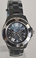 Guess GC Collection Women's Sport Glam Black Ceramic Swiss Watch X69002L2S NWT