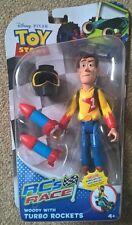 Disney Giocattolo Story RC Race Woody Deluxe Figure UK Venditore