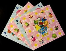 4 SHEETS SHOPKINS STICKERS PARTY FAVOR/FAVORS CRAFT PROJECT
