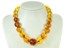 Rare German Museum Verified Genuine Amber Beads with Insects- A0371 RRP£6500
