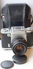 Pentacon Six TL Camera 6x6 SLR with MC Carl Zeiss Biometar 2.8/80mm lens Exc!