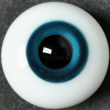 Nice 14mm Blue&black Glass BJD Eyes for minifee Ball Joint Doll Dollfie