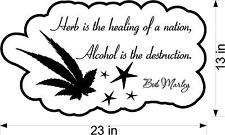 Herb is the Healing of a nation Bob Marley vinyl wall decal