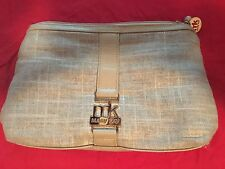 Mary Kay Gold Cosmetic Makeup Bag Clutch Money Bag Jewelry Purse Zippered MK