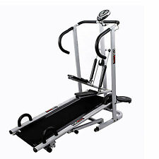 Lifeline deluxe treadmill 4 in1 manual jogger twister stepper push up bar sale