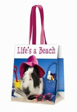 Guinea Pig Aerobics Life's A Beach long handled Shopping Bag PVC Tote