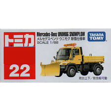 Takara Tomy Tomica #22 Mercedes-Benz UNIMOG Snowplow 1/88 Diecast Toy Car JAPAN